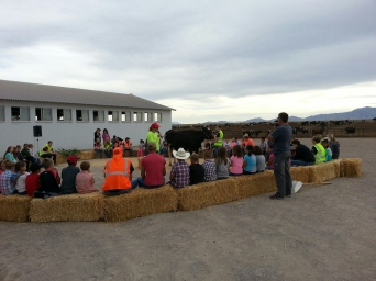 Class at Nye Dairy to learn about cows